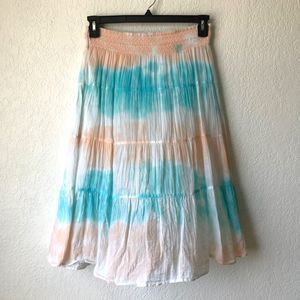 OLD NAVY Tie Dye Midi Skirt